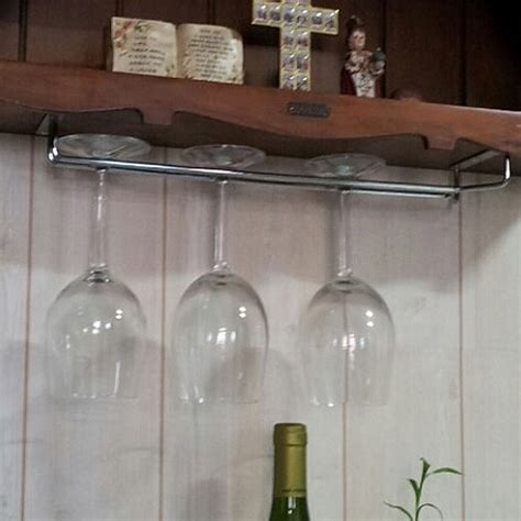 Kitchen Kaboodle Wine Glasses hanging wine glass rack glasses storage
