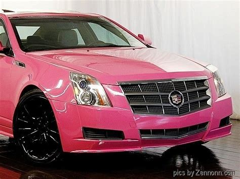 cadillac cts luxury collection awd custom pink paint job  sale