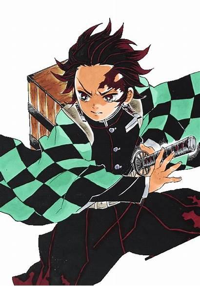 Tanjiro Kamado Tanjirou Yaiba Kimetsu Anime Demon