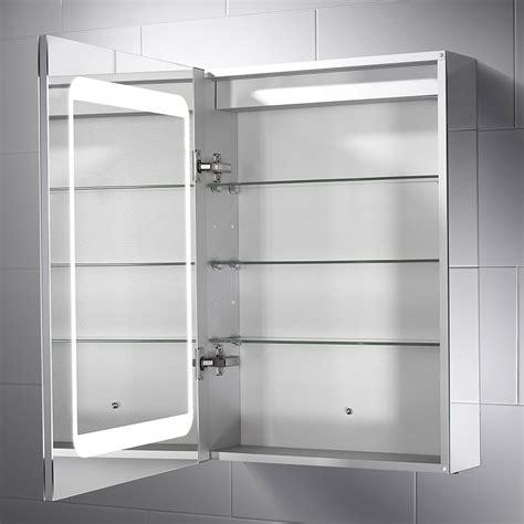 belle dual lit led mirror cabinet