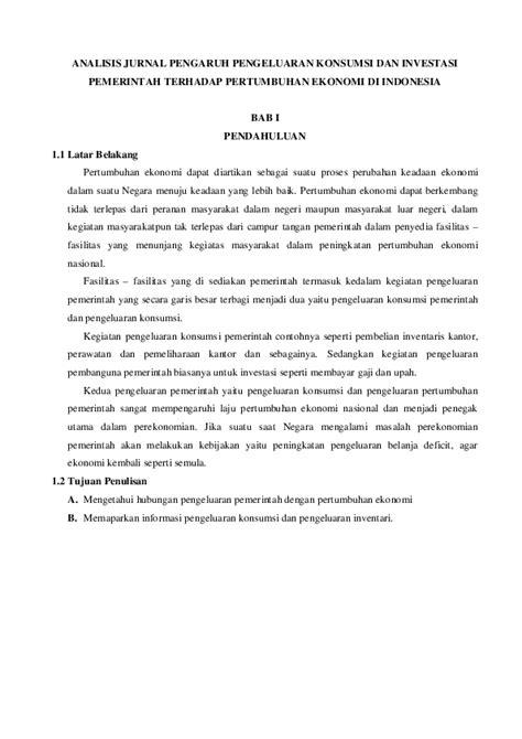 (PDF) ANALISIS JURNAL PENGARUH PENGELUARAN KONSUMSI DAN