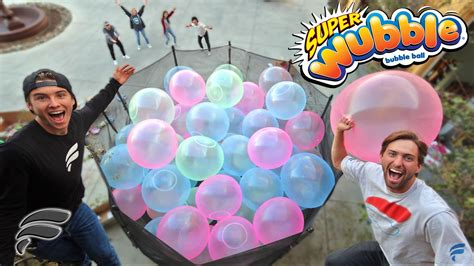 Trampoliine Filled With Wubble Bubbles Completely Full