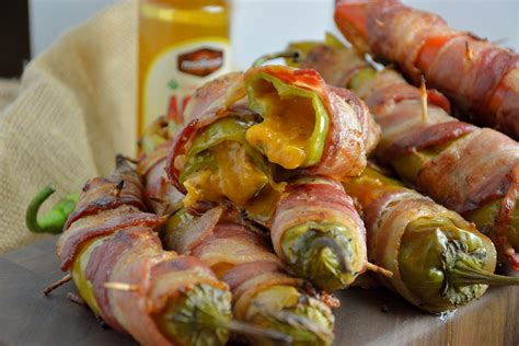 bacon wrap recipes bacon wrapped bbq chicken stuffed chile peppers savory experiments