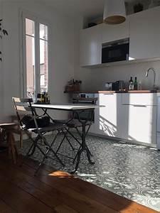 Cuisine Carreau De Ciment : carreaux de ciment charme parquet paris ~ Melissatoandfro.com Idées de Décoration