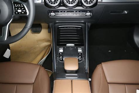 It looks a lot like leather, and is often mistaken for real mb tex has been the standard interior material for many mercedes vehicles for many years, at least since the early 1960s. For Mercedes Benz B Glb Class W247 X247 2020 Abs Chrome Carbon Fiber Car Center Console ...