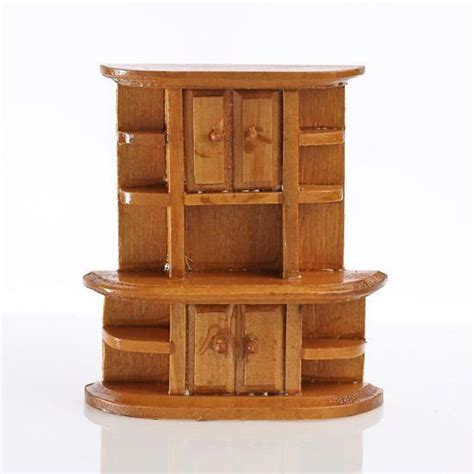 dollhouse miniature kitchen cabinet painting wooden