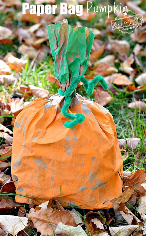 easy and paper bag pumpkin craft for to make 997 | IMG 4749 paper bag pumpkin