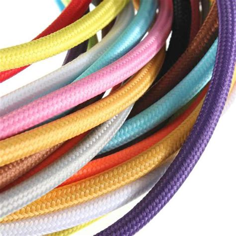 fabric covered l wire 1m cloth covered round electrical cord vintage fabric