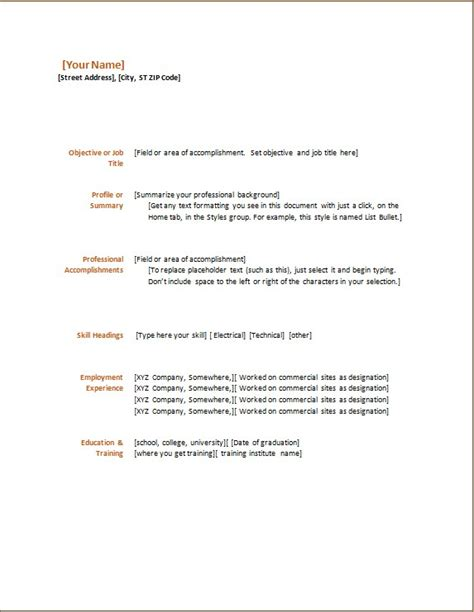 Functional Resume Exle by All Types Of Resume Template Word Excel Templates