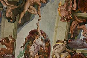 Close up of ceiling panel by Michaelangelo: Downfall of ...