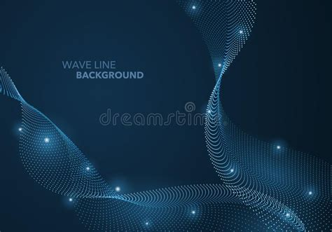 Abstract Modern Wave Background Vector Background Made Of Lines Geometric Abstract Background