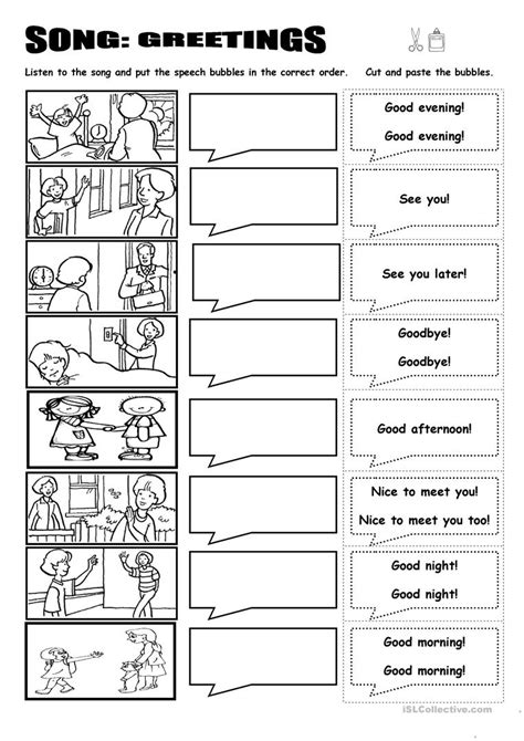greetings worksheets for elementary homeshealth info