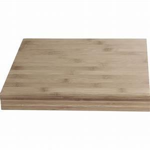 plan de travail bois bambou mat l245 x p65 cm ep38 mm With plan de travail exterieur bois