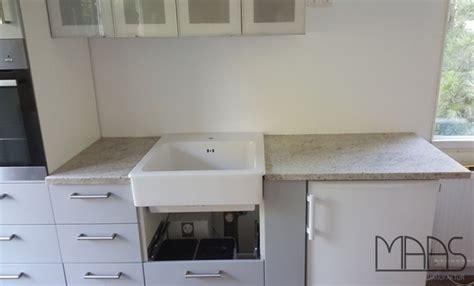 Köln Ikea Küche Mit Granit Arbeitsplatten Kashmir White