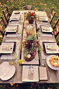 Outdoor, Table, Decorating, For, Thanksgiving, Day