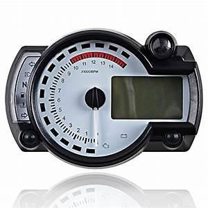 Universal Motorcycle Dual Odometer Speedometer Gauge