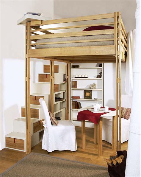 lit bureau adulte lits mezzanines modulable
