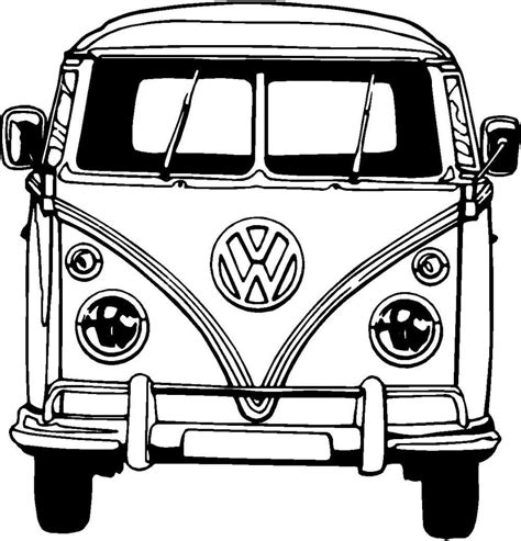volkswagen old van drawing vw bus coloring page cer motive uke pinterest vw