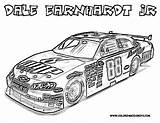 Coloring Nascar Race Dale sketch template