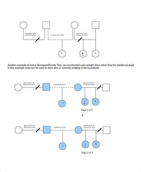 template for genogram in word genogram template 7 free word pdf documents download