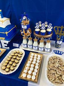 Royalty Blue Gold Birthday Party Ideas Photo 5 Of 7
