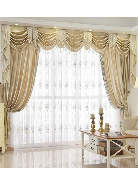curtains and draperies new arrival denali beige and yellow waterfall and swag