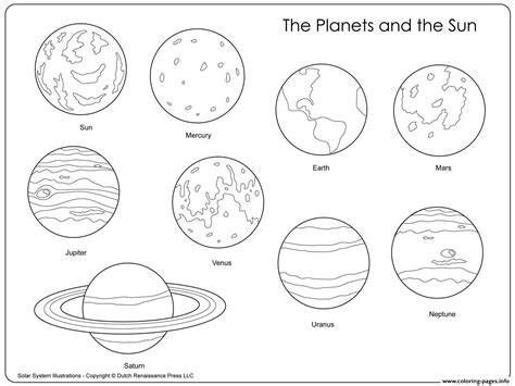 planets   sun coloring pages printable