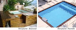 mini piscines un equipement complet actualites With exceptional liner sur mesure pour piscine hors sol 4 mini piscine en bois bluewood