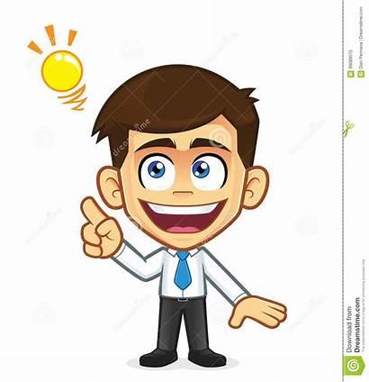 Idea Creative Businessman Cartoon Clipart Character