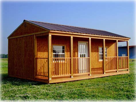 Graceland Sheds Prices by Graceland Side Porch Cabin Discount Portable Buildings