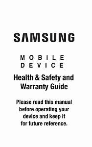 Samsung Mobile Device Health And Safety And Warranty Guide