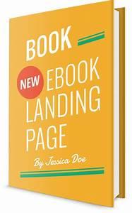 book responsive ebook landing page by pixininja With ebook cookbook template