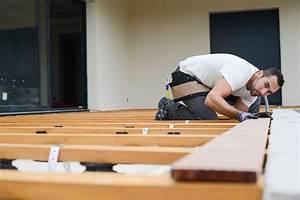 Holzplatten auf der terrasse verlegen eine anleitung for Holzplatten terrasse
