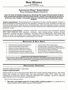 resume sample construction superindendent page 1 chris With construction resumes online