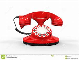Old Vintage Red Telephone Stock Images