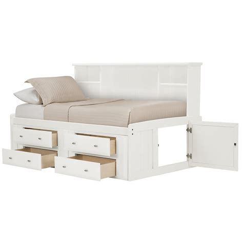 daybed with bookshelf city furniture laguna white storage bookcase daybed