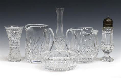 waterford crystal table ls 6 collection waterford cut crystal table items special
