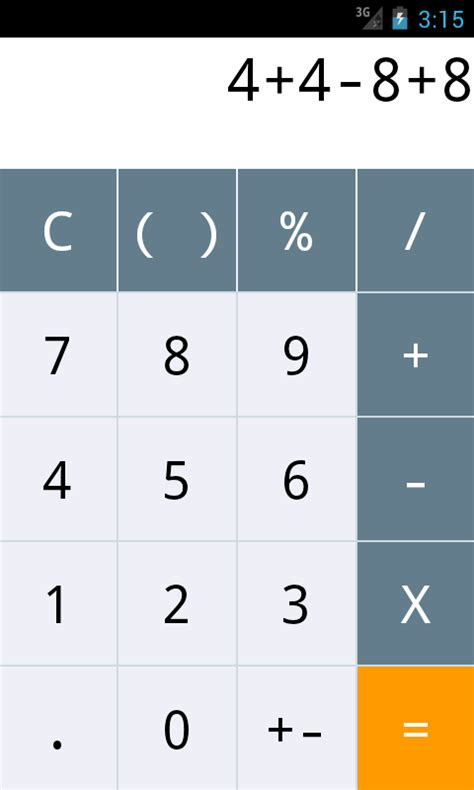 android calculator android calculator app ui design exle tutorial free ui