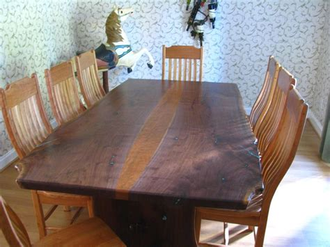 Handmade Natural Live Edge Walnut Slab Table By Haymore