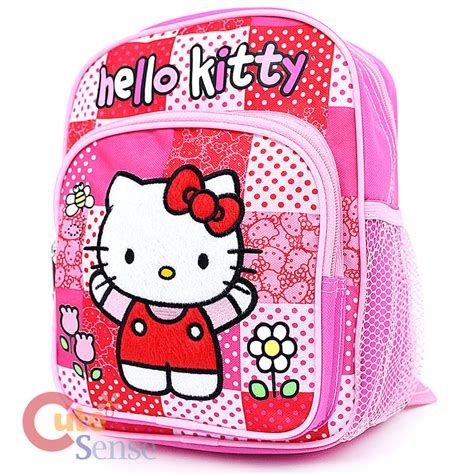 sanrio hello kitty toddler school backpack 10 quot small bag 440 | Hello Kitty Toddler Backpack Small Bag Pink Quilt 2
