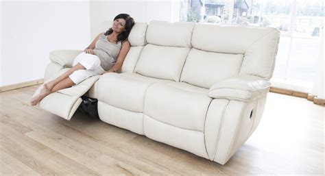 3 seater sofa with 2 recliner actions modena 3 seater electric double recliner sofa