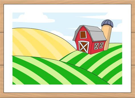 draw  farm  steps  pictures wikihow