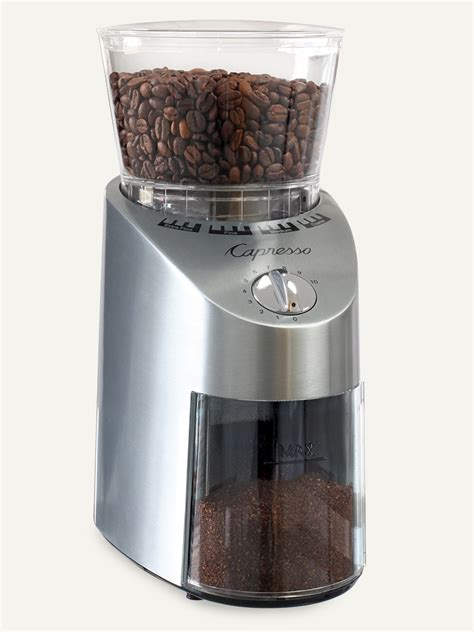 The grinder will not properly operate if the lid is not properly placed on the top of the grinder. Capresso Infinity Conical Burr Grinder Review - BeanPick