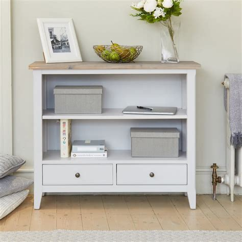 Low Bookcases by Bookcases Signature Grey Low Bookcase Cff01a By Baumhaus