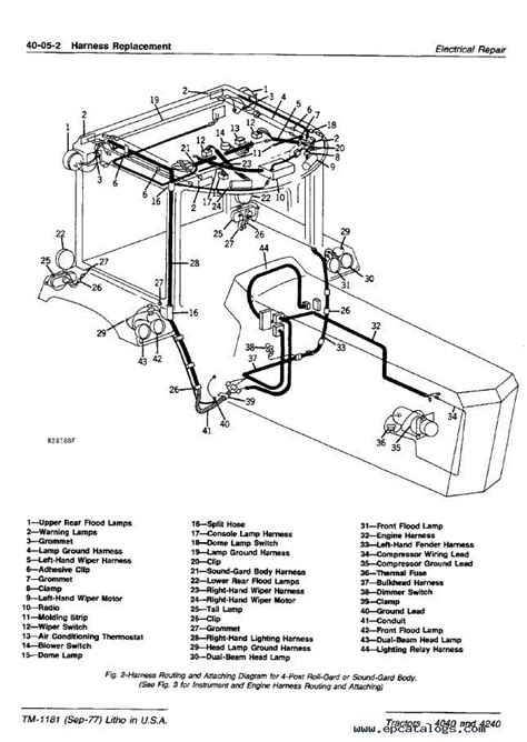 wiring schematic for 4440 deere auto electrical wiring diagram