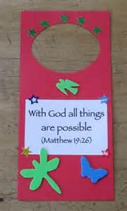 door hanger  quick easy craft sunday school crafts