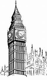 Ben Coloring Sketch Tower Clock Colouring Sketches London Drawings Template Designlooter Inghilterra Sun Coloringsun sketch template