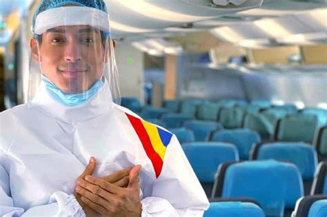 philippine airlines cabin crew don protective suits   normal abs cbn news
