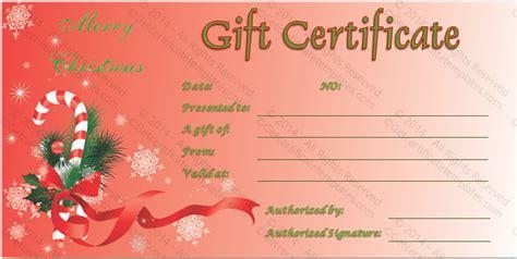 printable blank christmas gift certificate new calendar