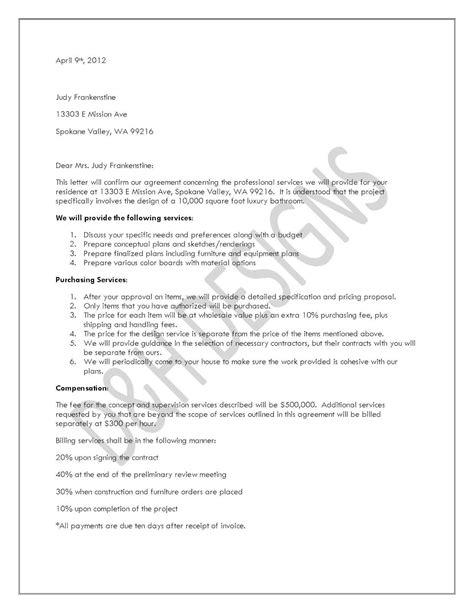 printable sample letter  agreement form lettering